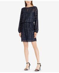 American Living - Metallic Dot-print Dress - Lyst