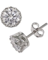 Giani Bernini - Cubic Zirconia Crown Stud Earrings In Sterling Silver, Created For Macy's - Lyst