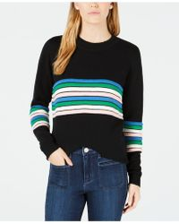 Maison Jules - Novelty-striped Sweater, Created For Macy's - Lyst