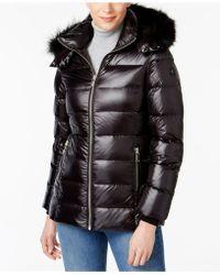 Andrew Marc - Fox-fur-trim Hooded Puffer Coat - Lyst