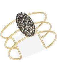 INC International Concepts - Gold-tone Glittery Pavé Cuff Bracelet - Lyst