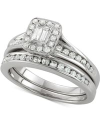 Macy's - Diamond Twisted Halo Engagement Ring (1-3/4 Ct. T.w.) In 14k White Gold - Lyst