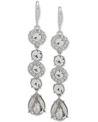 Givenchy - Silver-tone Crystal Linear Drop Earrings - Lyst