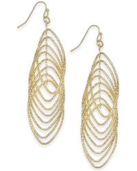 INC International Concepts I.n.c. Navette Multi-ring Drop Earrings, Created For Macy's