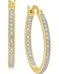 Macy's - Diamond In And Out Hoop Earrings (1/2 Ct. T.w.) - Lyst