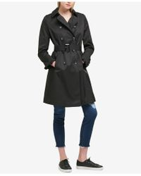DKNY - Belted Ruffle-sleeve Trench Coat - Lyst