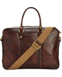 Patricia Nash - Men's Leather Vintage Italian Slim Briefcase - Lyst