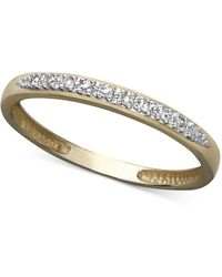 Macy's - 14k White Gold Ring, Pave Diamond Accent Band - Lyst