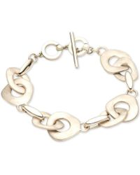 Carolee - Single Row Metal Flex Bracelet - Lyst