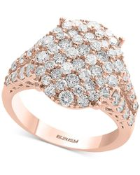 Effy Collection - D'oro By Effy® Diamond Cluster Statement Ring (2-1/10 Ct. T.w.) In 14k Yellow, White And Rose Gold - Lyst