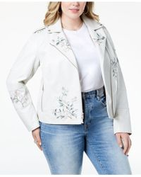 Levi's - ® Plus Size Embroidered Faux-leather Moto Jacket - Lyst