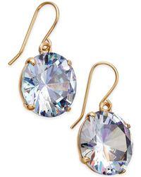 Kate Spade - Shine On Gold-tone Crystal Drop Earrings - Lyst