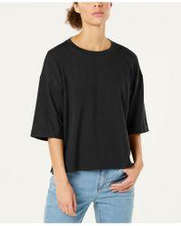 Eileen Fisher - Organic Cotton Elbow-sleeve Top, Regular & Petite - Lyst