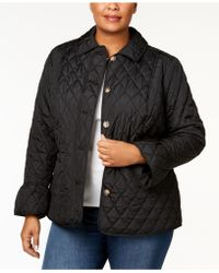 Charter Club - Plus Size Quilted Bell-sleeve Jacket - Lyst