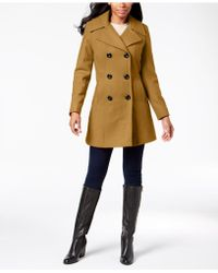 Anne Klein - Double-breasted Peacoat - Lyst