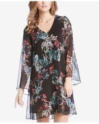 Karen Kane - Floral-print Bell-sleeve Dress - Lyst