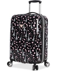 "Betsey Johnson - Paris Love 20"" Hardside Carry-on Spinner Suitcase - Lyst"