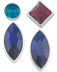 ABS By Allen Schwartz - Silver-tone 4-pc. Mix-and-match Earring Set - Lyst