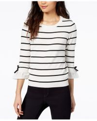 Maison Jules | Bow-detail Bell-sleeve Sweater | Lyst