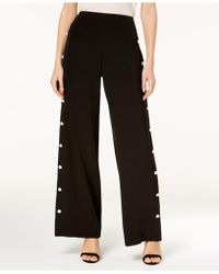 Love Scarlett - Petite Embellished Wide-leg Pants - Lyst