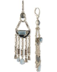 DKNY - Gold-tone Colored Stone Chandelier Earrings, Created For Macy's - Lyst