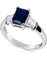 Macy's - Sapphire (1-3/4 Ct. T.w.) & Diamond (1/3 Ct. T.w.) Ring In 14k White Gold - Lyst