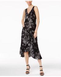 Olivia & Grace - Printed High-low Midi Dress - Lyst