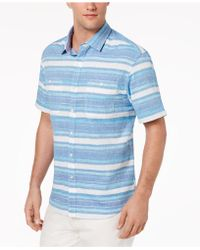 Tommy Bahama - Breakwater Space-dyed Stripe Camp Shirt - Lyst