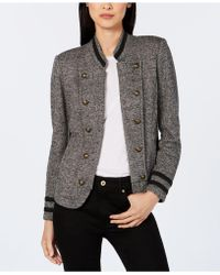 Tommy Hilfiger - Tweed Band Jacket, Created For Macy's - Lyst