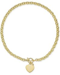 """Giani Bernini - Heart 18"""" Pendant Necklace In 18k Gold-plated Sterling Silver, Created For Macy's - Lyst"""