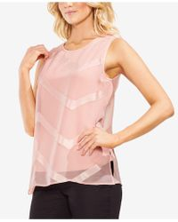 Vince Camuto - Sleeveless Illusion Top - Lyst