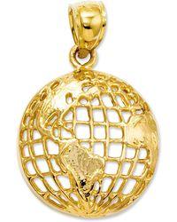 Macy's - 14k Gold Charm, Polished Globe Charm - Lyst