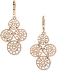 Lonna & Lilly - Gold-tone Filigree Disc Chandelier Earrings - Lyst