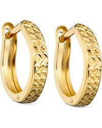 Macy's - 10k Gold Hoop Earrings - Lyst