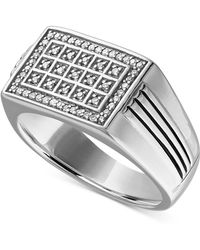 Macy's - Diamond Statement Ring (1/4 Ct. T.w.) In Sterling Silver - Lyst