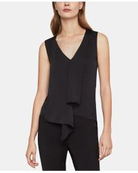 BCBGMAXAZRIA - V-neck Asymmetrical Top - Lyst