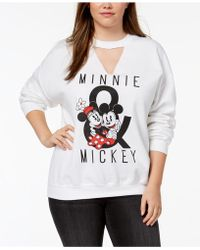 Hybrid - Plus Size Minnie & Mickey Mouse Cutout Sweatshirt - Lyst