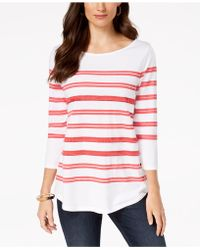 Charter Club - Sequin Striped Top, Created For Macy's - Lyst