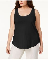 Eileen Fisher - Plus Size Organic Cotton Tank Top - Lyst