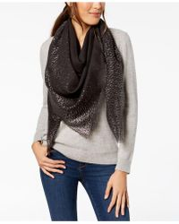 INC International Concepts - I.n.c. Ombré Metallic Foil Oversized Square Scarf, Created For Macy's - Lyst