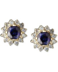 Effy Collection - Sapphire (5/8 Ct. T.w.) And Diamond (1/4 Ct. T.w.) Round Stud In 14k Gold - Lyst