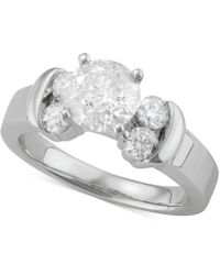 Macy's - Diamond Engagement Ring (2 Ct. T.w.) In 14k White Gold - Lyst