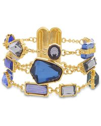 Catherine Malandrino - Multicolored Jewels Multistrand Yellow Gold-tone Rolo Chain Bracelet - Lyst
