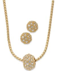 Charter Club - Gold-tone Crystal Necklace And Earring Jewelry Set - Lyst