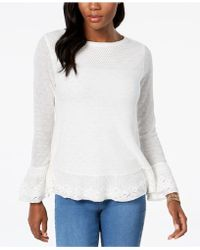 Style & Co. - Petite Ruffle-trim Jumper - Lyst