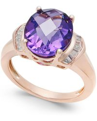 Macy's   Amethyst (4-1/4 Ct. T.w.) And White Topaz (1/4 Ct. T.w.) In 14k Rose Gold-plated Sterling Silver   Lyst