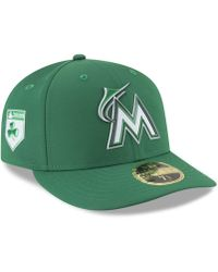 KTZ - Miami Marlins St. Patty's Day Pro Light Low Crown 59fifty Fitted Cap - Lyst
