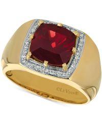 Le Vian - Men's Pomegranate Garnettm (4-3/8 Ct. T.w.) & Diamond (1/6 Ct. T.w.) Ring In 14k Gold - Lyst