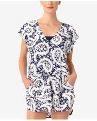 Anne Cole - Pattie Paisley Printed Tunic Cover-up - Lyst
