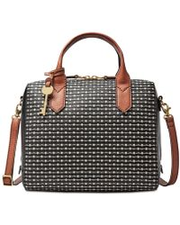 Fossil - Fiona Printed Small Satchel - Lyst